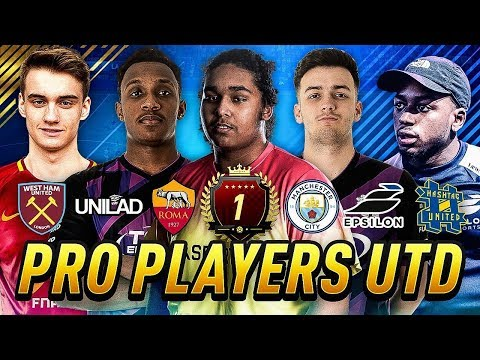 PLAYING PRO CLUBS WITH THE BEST FIFA 18 PLAYER IN THE WORLD! Pro Players UTD! #1