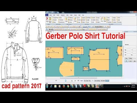How to make Polo Shirt | Polo Shirt | Gerber Pattern Making | Gerber Software
