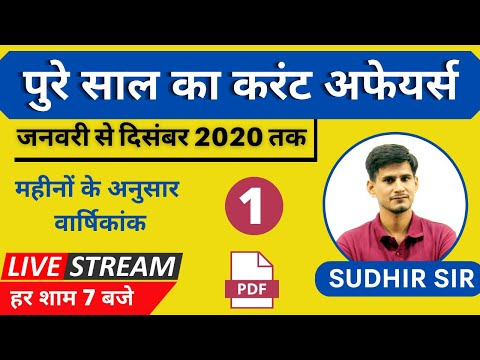 yearly current affairs 2020 | January to December Current affairs 2020