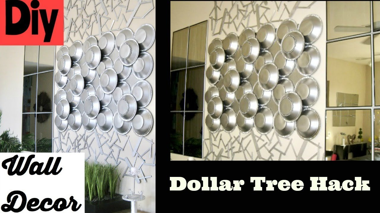 Diy Wall Decor Using Dollar Tree Items Youtube
