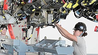 """B-52 Conventional Rotary Launcher (CRL) Loading – Bomber Gains New """"Smart"""" Weapons Capability"""