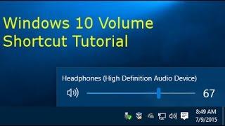 Windows 10 Volume Shortcut Tutorial