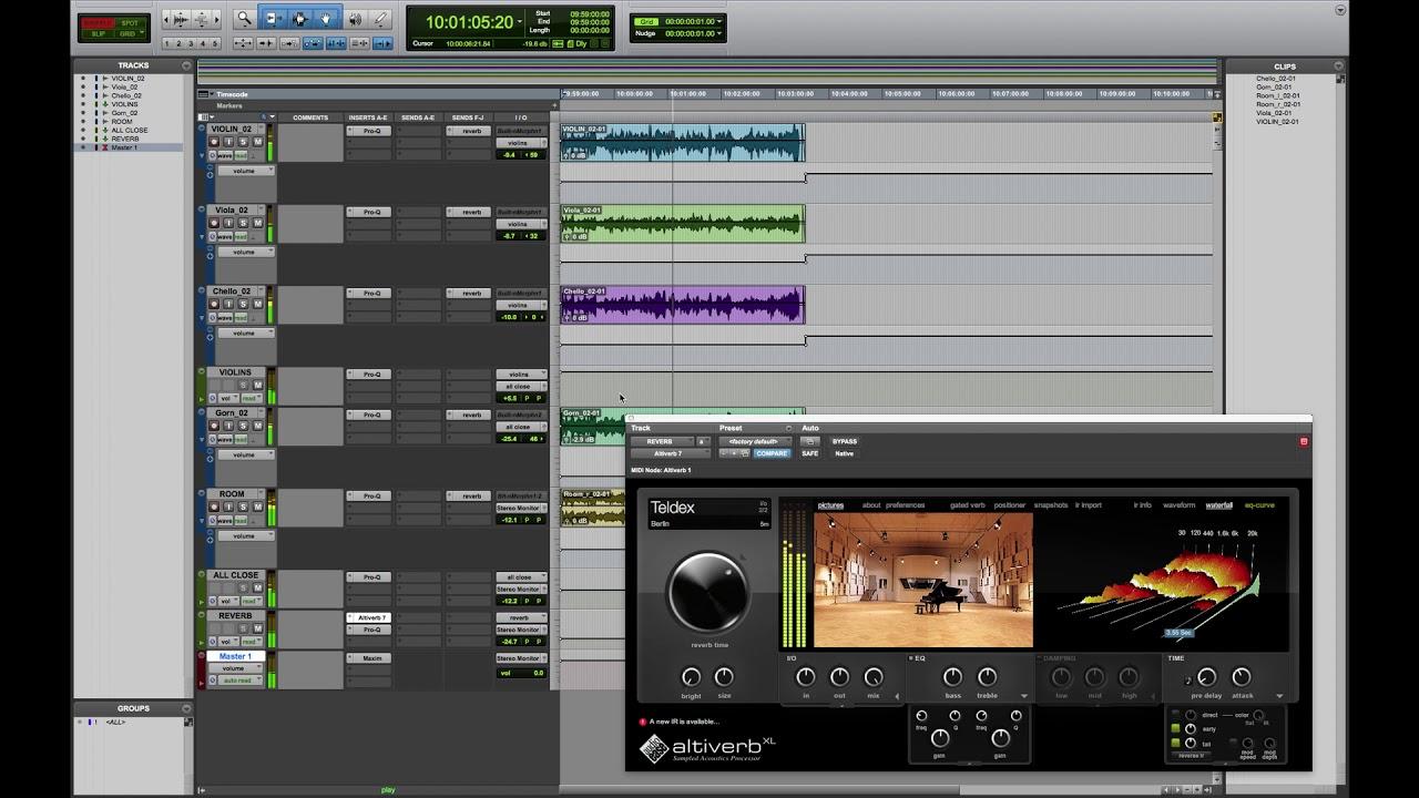 Quartet (view of a music project)