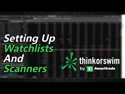 How to Build a Watchlist and Scanner to Find Stocks in 2018