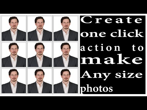 one  click actions in photoshop to make auto size photos||Photoshop tutorial in nepali thumbnail