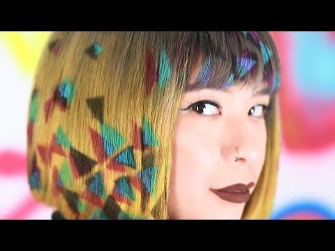 Супермодный тренд в прическах — графити на голове
