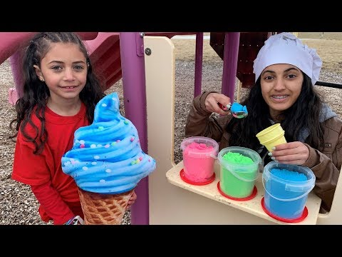 Hadil Pretend Play Selling SAND Ice Cream Toy Shop