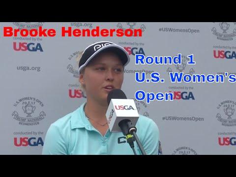 Brooke Henderson - 2017 U.S. Women's Open / Round 1