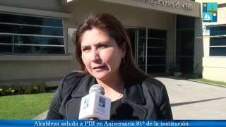Alcaldesa visita a la PDI en su 81° aniversario como institución