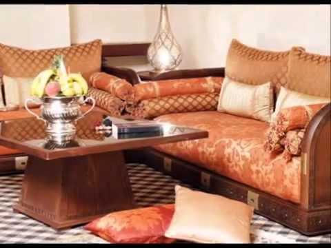 Salon marocain traditionnel d coration orientale youtube for Decoration salon marocain