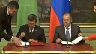 Подписание программы сотрудничества между МИД России и Туркменистана