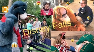 TRY NOT TO LAUGH! Our TOP Disney world FAILS!! Character interaction BLOOPERS. Watch until END!