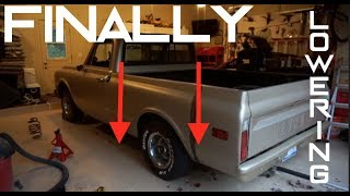 Installing 5 inch Rear Lowering Springs | Chevy C10 ep. 19