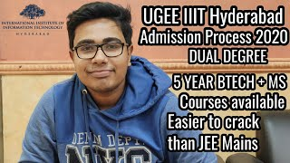 IIIT Hyderabad UGEE Examination for Btech + MS 5 year Dual Program || UGEE Mode complete analysis
