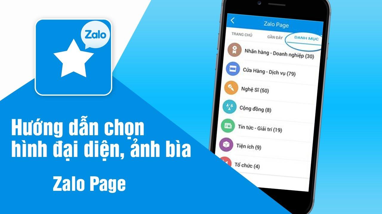 Zalo Page - Hướng dẫn chọn hình đại diện, ảnh bìa