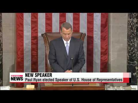 Paul Ryan elected Speaker of U.S. House of Representatives   폴 라이언 미국 새 하원의장 선출…