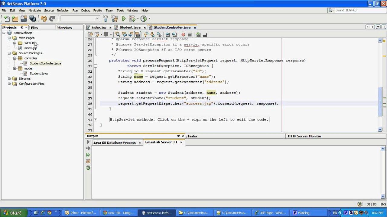 sample java ee web application youtube