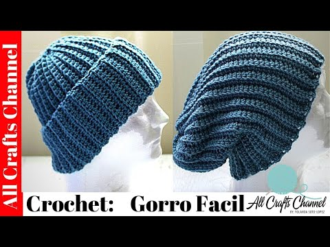 CROCHET: Gorro facil, rapido y Bonito from YouTube · Duration:  15 minutes 44 seconds