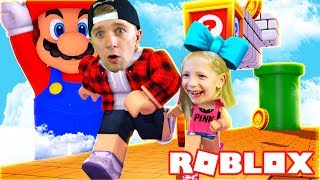 MAD RACE in ROBLOX the game SPEED RUN 2 we from MARIO Milano and Dan's dad play on FFGTV