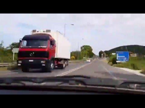 Κάστρο Πλαταμώνα Λάρισα, Timelapse σε 3 λεπτά. Highway Driving Greece