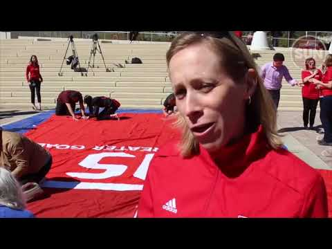 Giant jersey signing for Women's World Cup