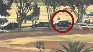 U.S. President travels to Gigiri using a chopper