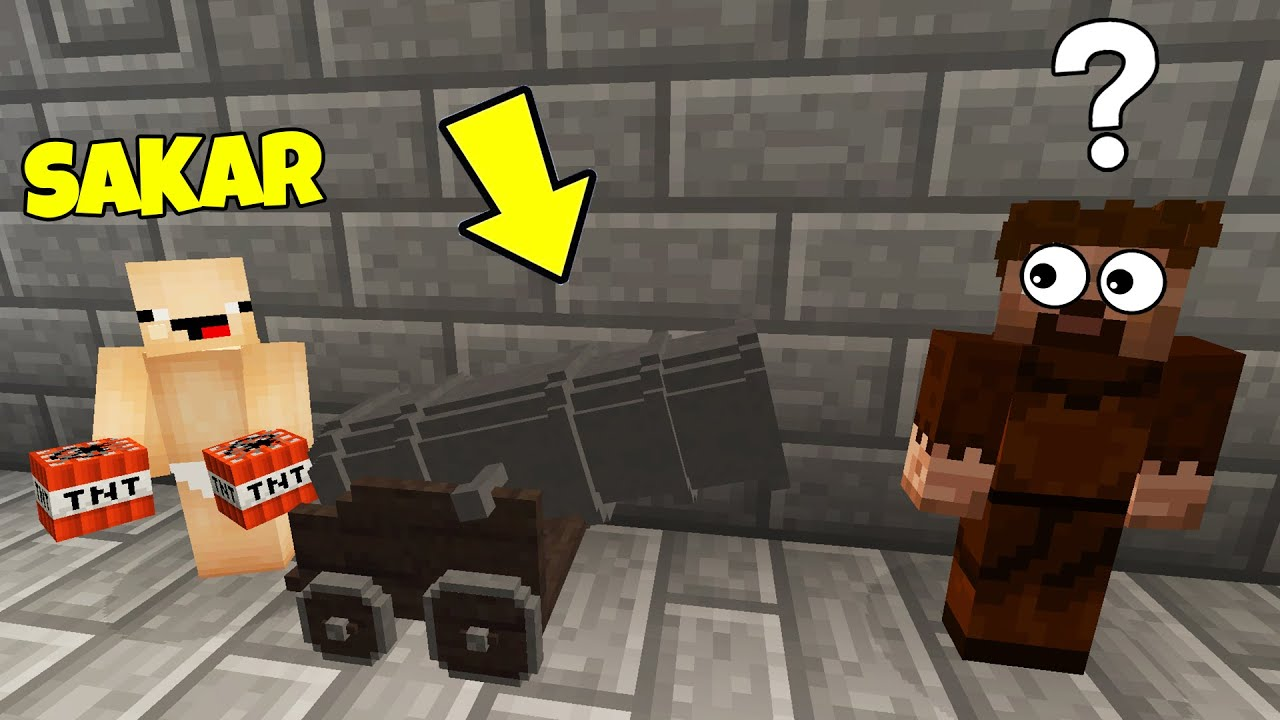 SAKAR İLE FAKİRİ TROLLEDİM (ÇILDIRDI) !! 😱 - Minecraft