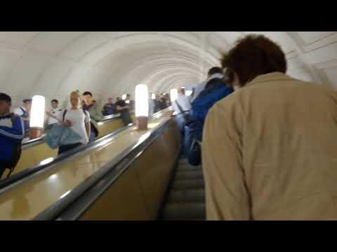 Москва 460 станция метро Павелецкая кольцевой линии лето день