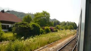 Zugfahrt Sommer 2014 - ALX von Sonthofen nach Fischen (Allgäu)