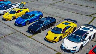 【大分県】スーパーカーツーリング ランボルギーニやフェラーリ総勢20台