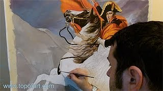 Art Reproduction (David - Napoleon Crossing the Alps) Hand-Painted Step by Step