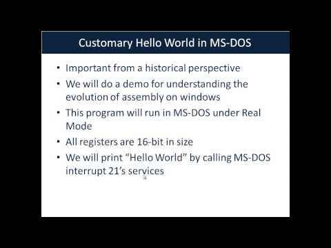 ASM WIndows Part 1 Processor Modes