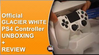 official dualshock 4 glacier white controller unboxing and review