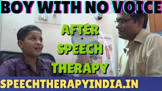 After Functional Aphonia Voice Therapy For A Boy From Mombasa Kenya, Affrica By SLP Sanjay In India