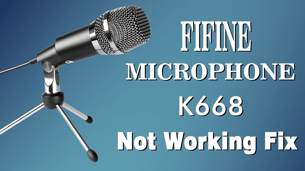 fix fifine usb microphone k668 not working youtube. Black Bedroom Furniture Sets. Home Design Ideas