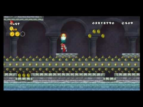 New Super Mario Bros. Wii - Star Coin Location Guide - World 4-Castle | WikiGameGuides