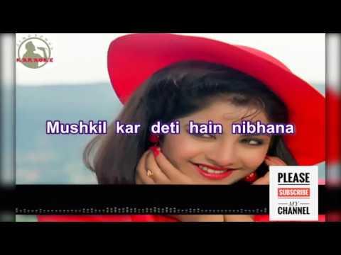 Milne ki tum koshish karna full karoke Song for male With female Voice And full Lyrics