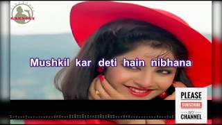 Milne ki tum koshish karna full karoke Song for male With female Voice And full Lyrics