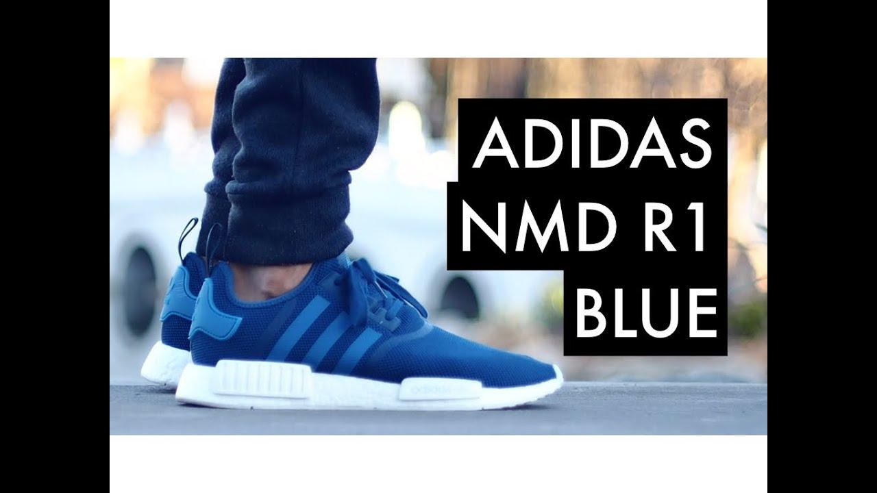 innovative design a6803 10463 ADIDAS NMD R1 Blue   On-Feet