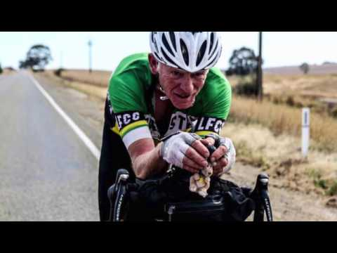 Indipac day 10 - 74 years young Paul Ardill rides Indian Pacific Wheel Race
