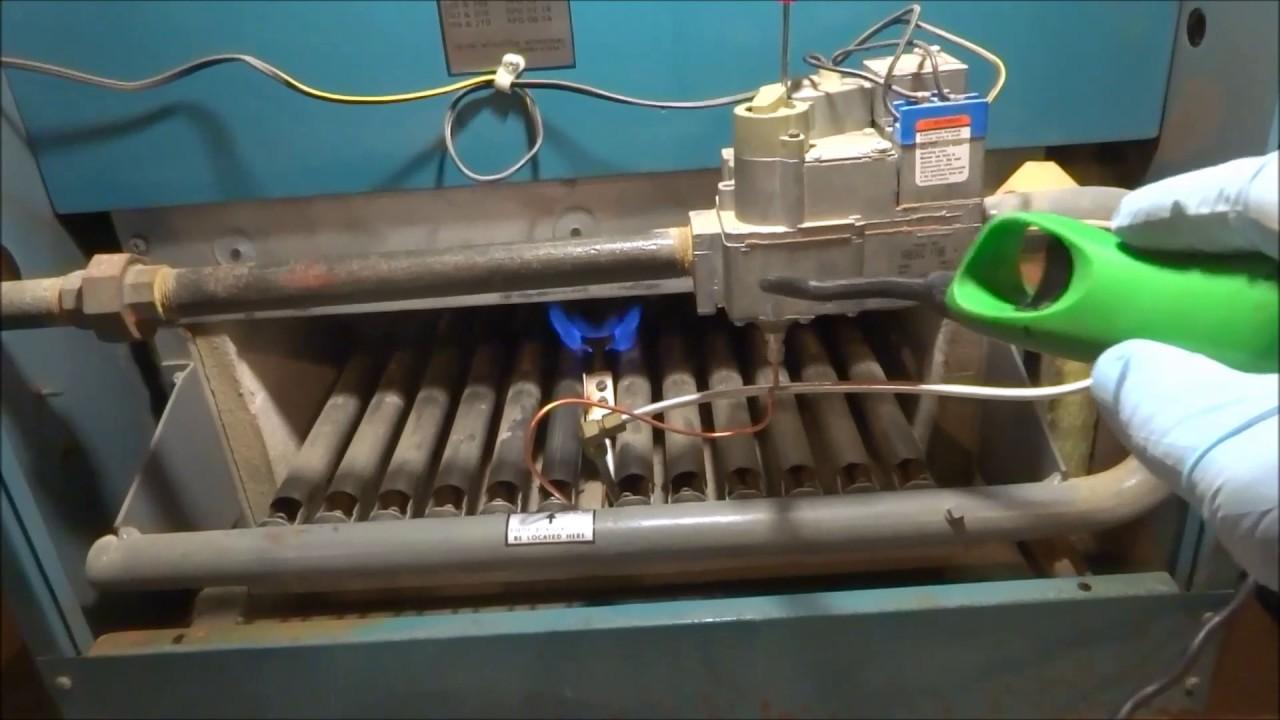 gas boiler no heat pilot went out - YouTube