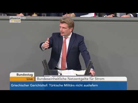 Bundestag: Debatte über Bundeseinheitliche Netzentgelte für Strom am 26.01.2017
