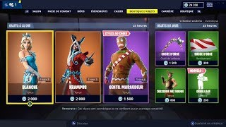 "FORTNITE December 25Th Skins ""BLANCHE"" - ""KRAMPUS"" - ""GENTIL MARAUDEUR"" shop!"