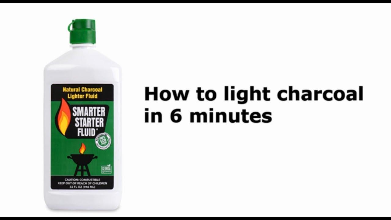 Lighting Charcoal with Smarter Starter Fluid