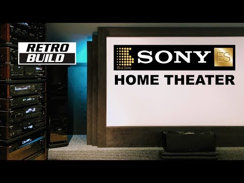 SONY ES Home Theater Quick Tour 2019.  Man Cave Retro Vintage Cinema Hi-fi Collection