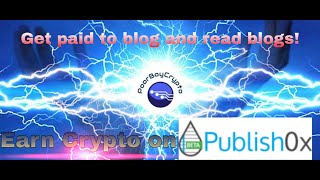 Earn cryptocurrency on Publish0x | Get paid to to create and read blogs!