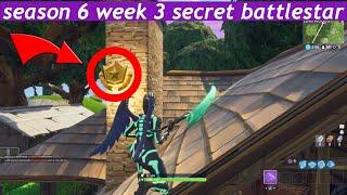 Fortnite season 6 week 3 secret battlestar