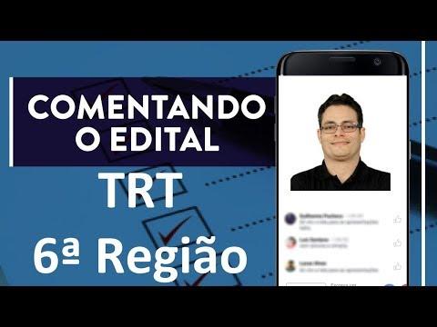 Comentando o Edital (TRT 6ª Região)  | Prof. Rodrigo Bezerra