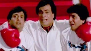 Govinda, Chunky Pandey, Kadar Khan, Aankhen - Comedy Scene 3/13