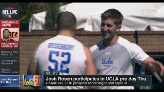 Josh Rosen Participates in UCLA Pro Day Thu | NFL Live | Mar 16, 2018